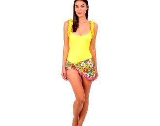 Falda Amarilla Estampada