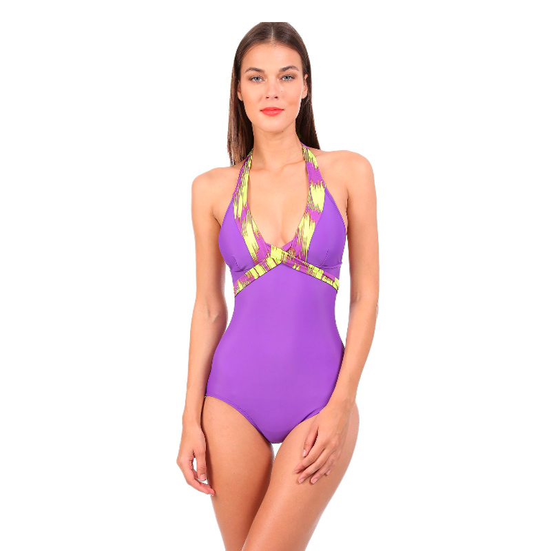 Morado Santa Swimwear Morena Bikini Amarillo Y Banda IW9EH2D