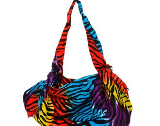 Bolsa de Playa Tela franjas colores