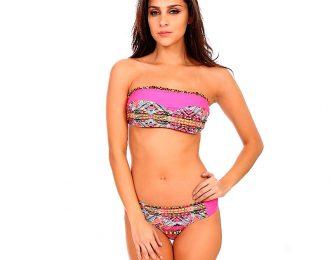 Bikini Strapless Fucsia Escarola