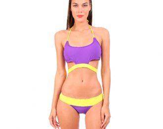 Bikini Banda Amarillo y Morado