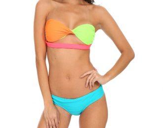 Bikini Strapless Twist-Turquesa